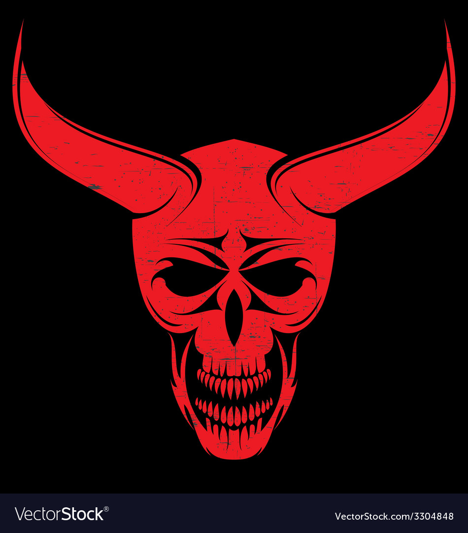 Red evils head vector   Price: 1 Credit (USD $1)