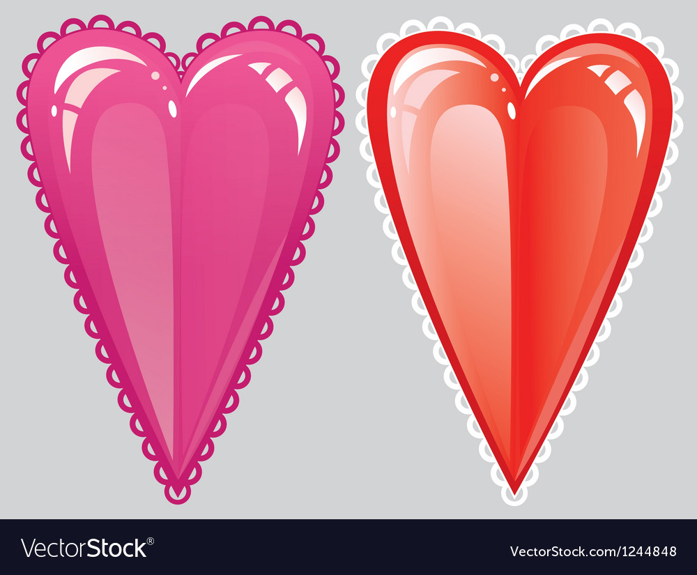 Romantic heart red vector | Price: 1 Credit (USD $1)