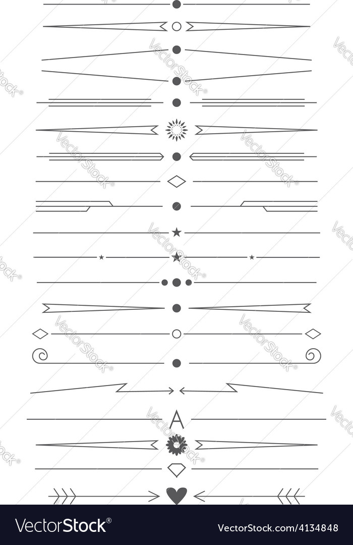 Set of simple design elements vector   Price: 1 Credit (USD $1)