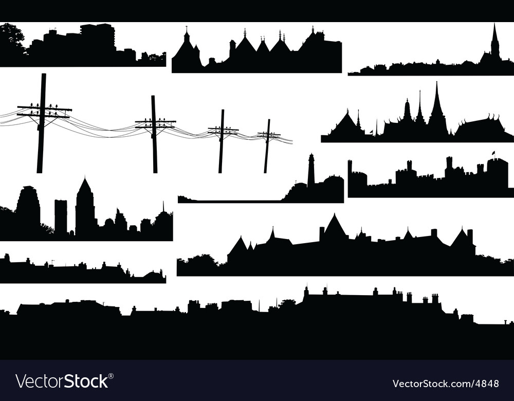Skylines vector | Price: 1 Credit (USD $1)