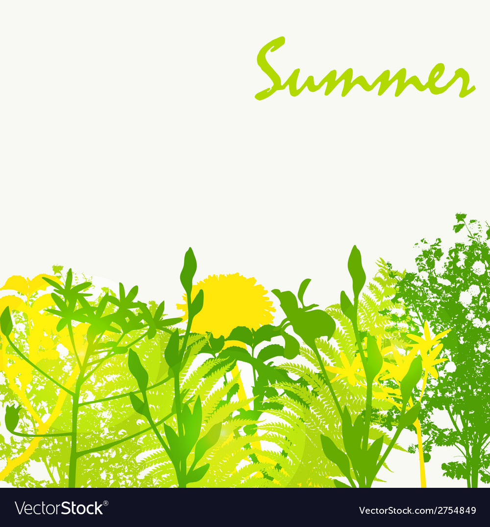 Abstract summer natural background vector | Price: 1 Credit (USD $1)
