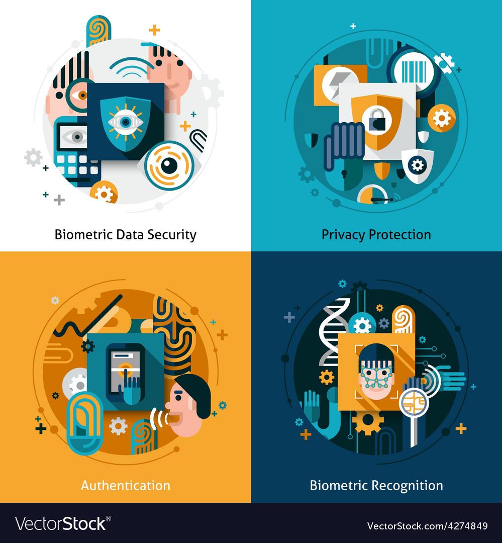Biometric authentication set vector | Price: 1 Credit (USD $1)