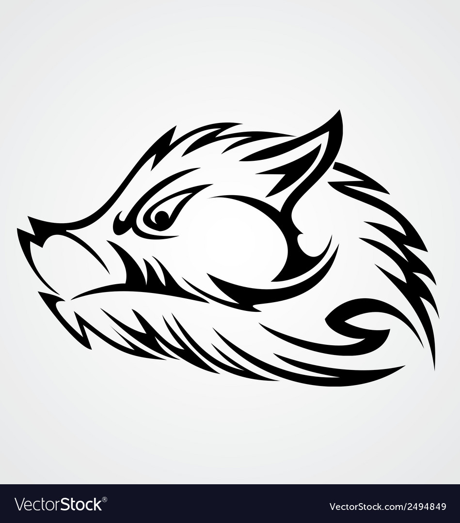 Boar head tattoo vector | Price: 1 Credit (USD $1)