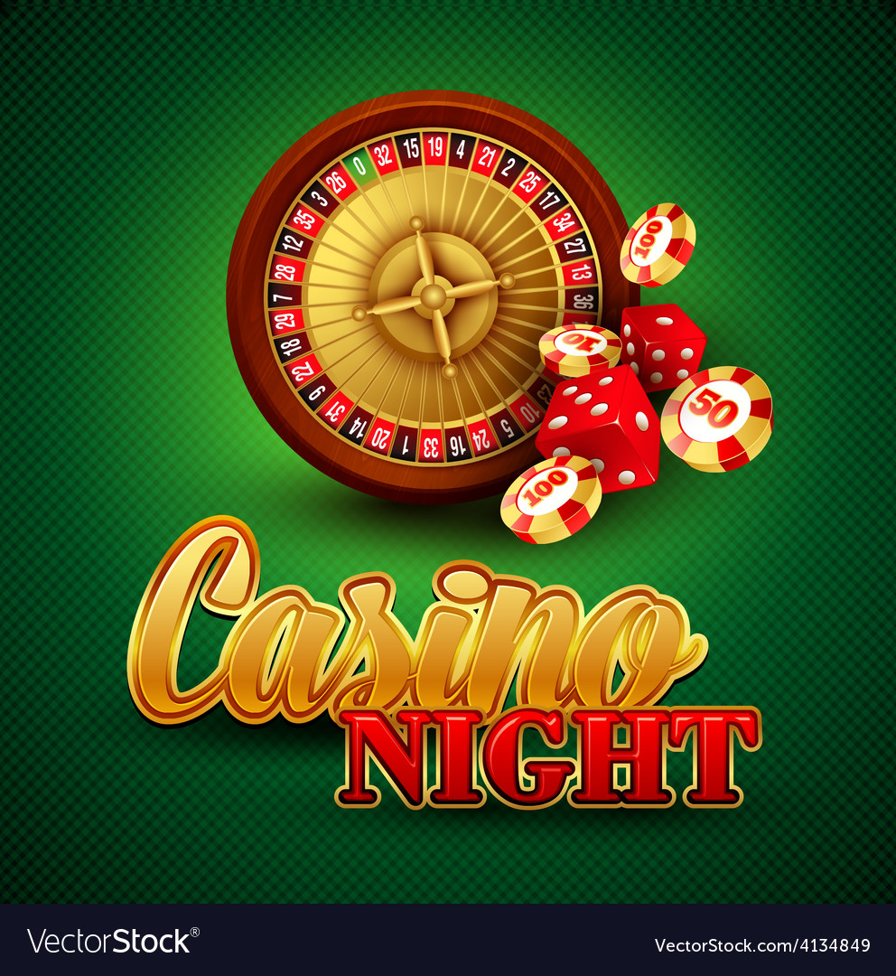 Casino background with cards chips craps and vector | Price: 3 Credit (USD $3)