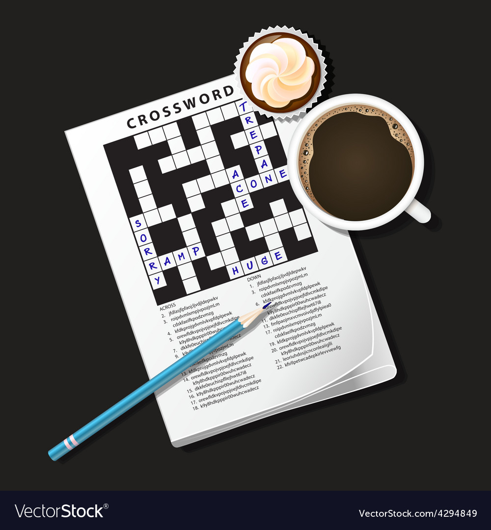 Crossword coffee3 vector | Price: 1 Credit (USD $1)