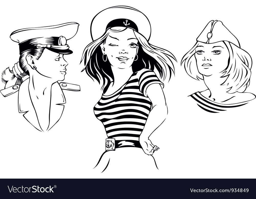 Drawn girls vector | Price: 1 Credit (USD $1)