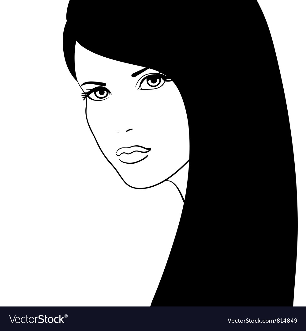 Girl face fashion model vector | Price: 1 Credit (USD $1)