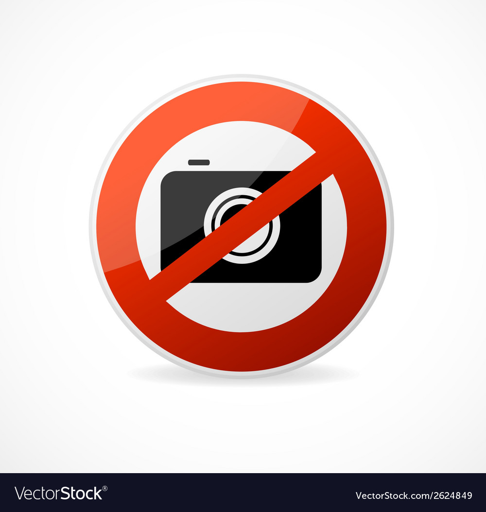 No photo camera sign isolated vector | Price: 1 Credit (USD $1)