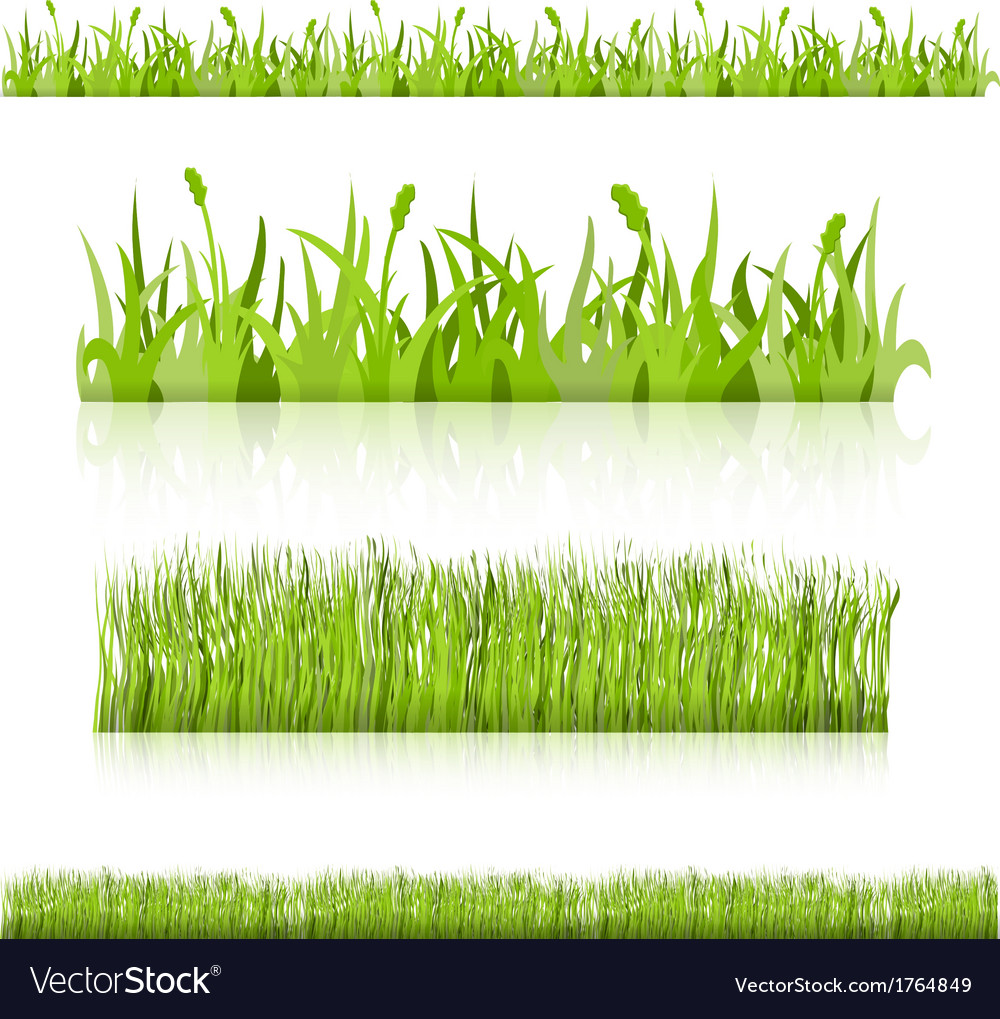 Set grass image vector | Price: 1 Credit (USD $1)