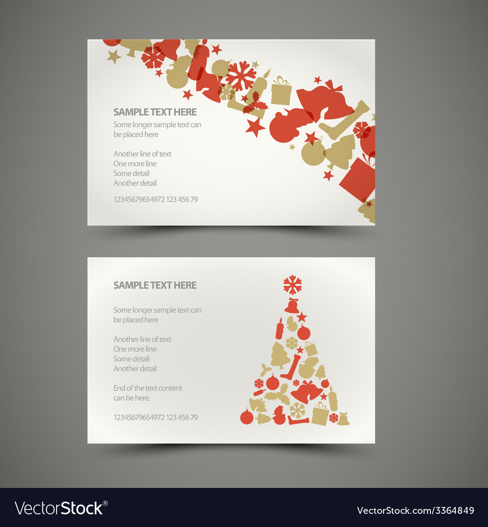 Set of christmas new year cards vector | Price: 1 Credit (USD $1)