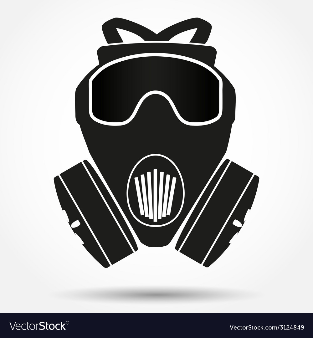 Silhouette symbol of gas mask respirator vector | Price: 1 Credit (USD $1)