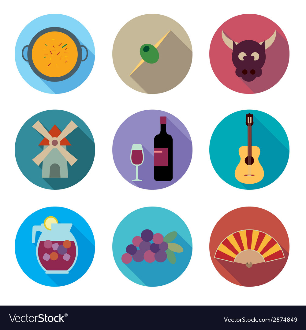 Symbols of spain vector | Price: 1 Credit (USD $1)