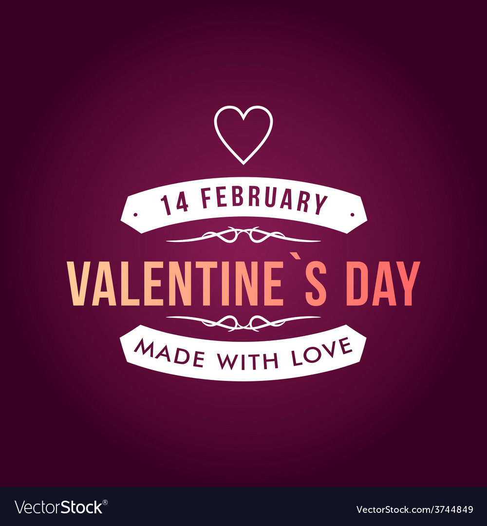 Valentines day typography badge stamp and design vector | Price: 1 Credit (USD $1)