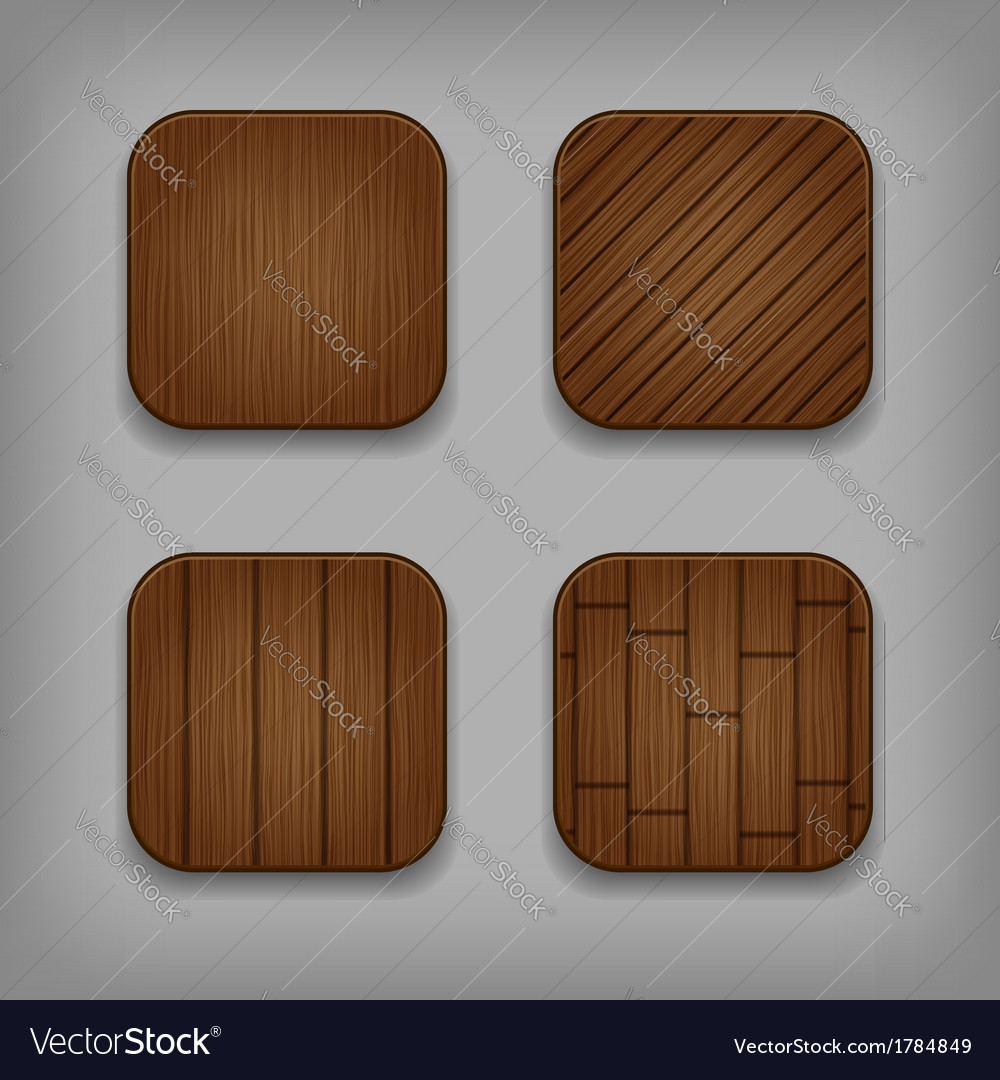 Wooden buttons set vector | Price: 1 Credit (USD $1)