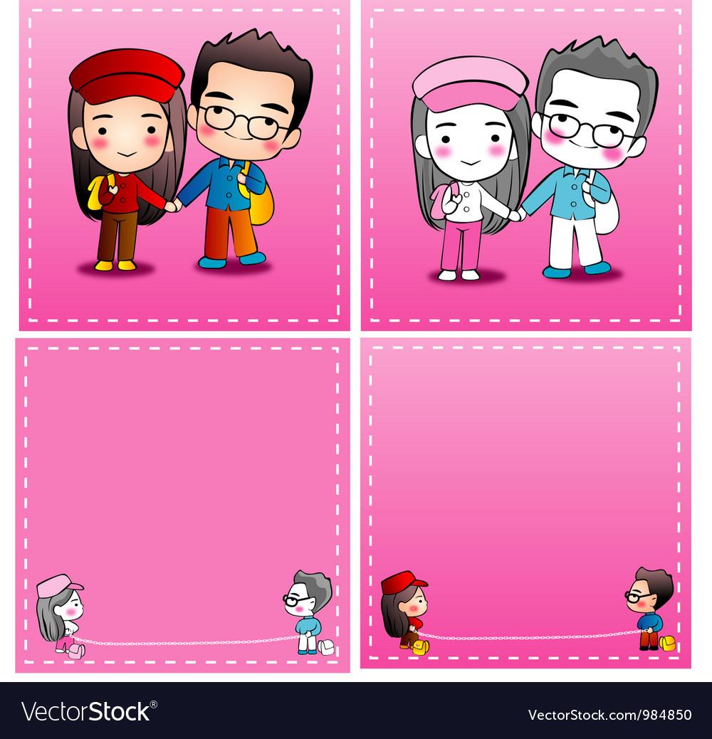 Card wedding 001 vector | Price: 1 Credit (USD $1)