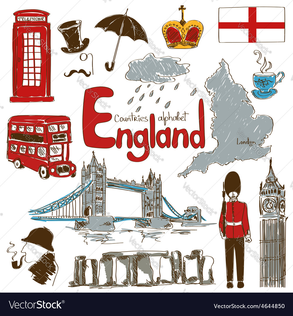 Collection of england icons vector | Price: 1 Credit (USD $1)