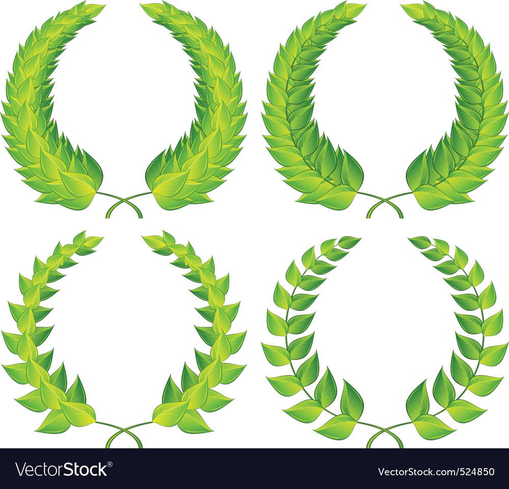 Green laurel wreaths vector   Price: 1 Credit (USD $1)