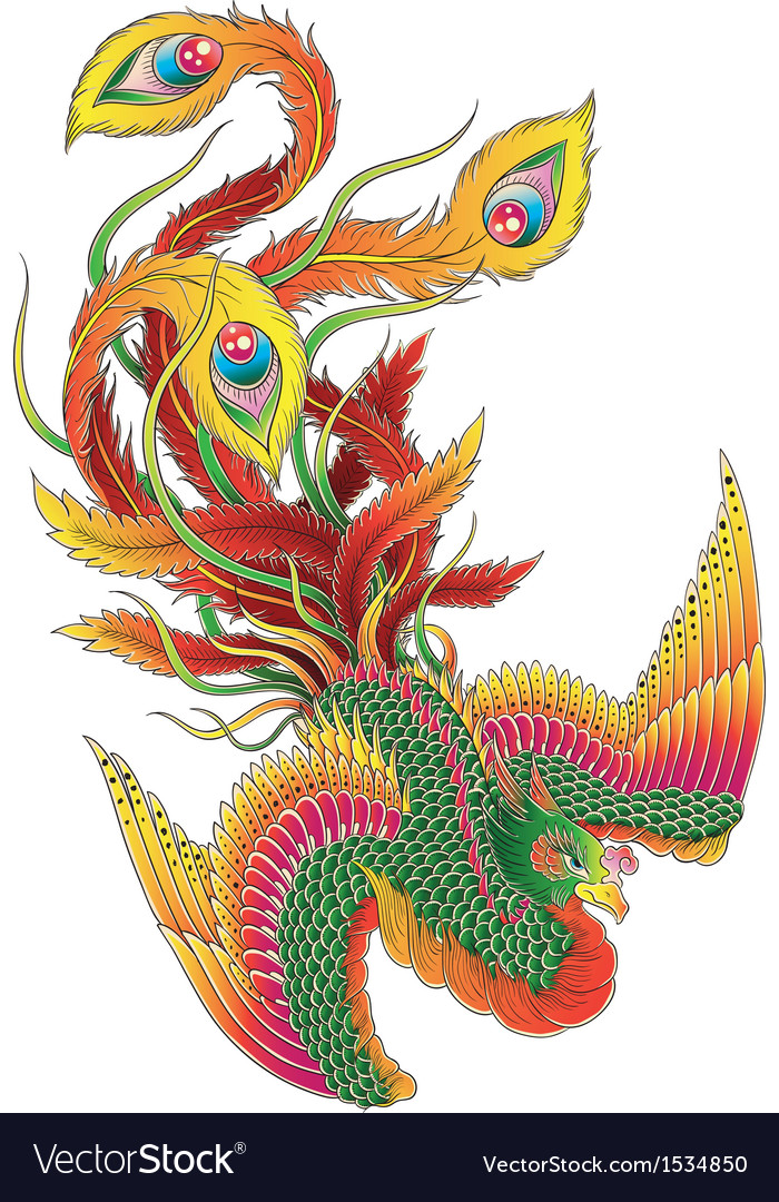 Japanese style phoenix vector | Price: 1 Credit (USD $1)