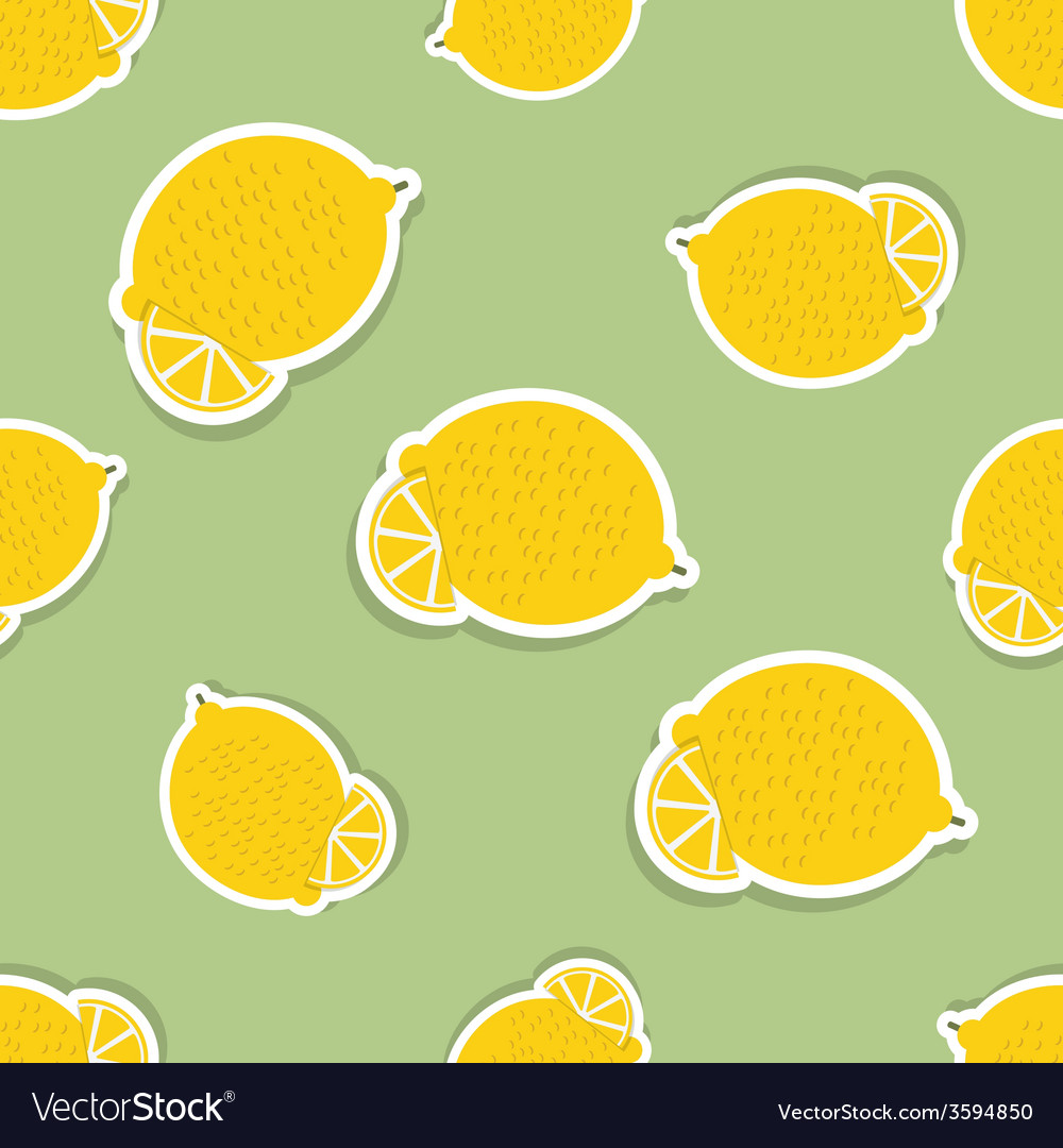 Lemon pattern seamless texture with ripe lemons vector | Price: 1 Credit (USD $1)