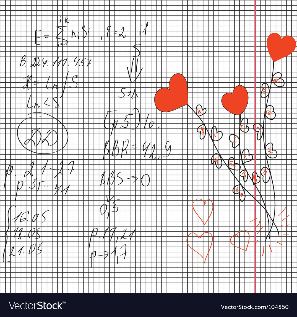Maths and love vector | Price: 1 Credit (USD $1)
