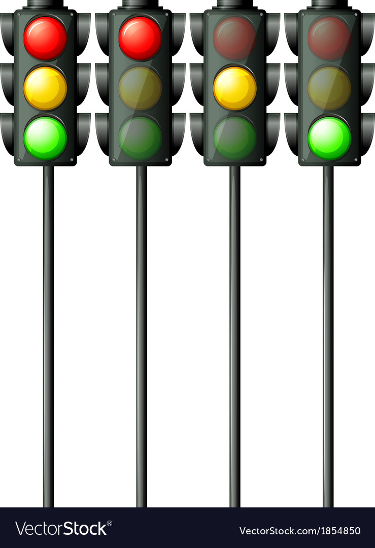 Pedestrian traffic lights vector | Price: 1 Credit (USD $1)