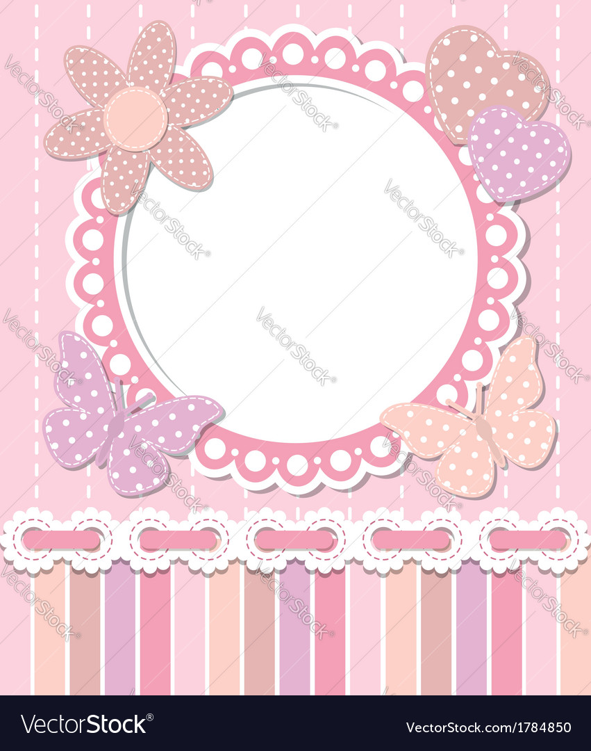 Romantic pink frame vector | Price:  Credit (USD $)