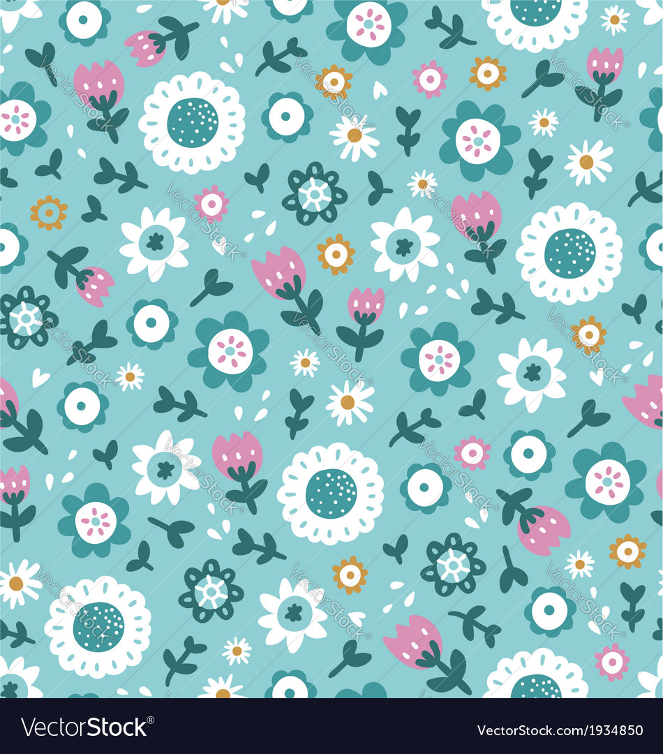 Simple floral pattern vector | Price: 1 Credit (USD $1)