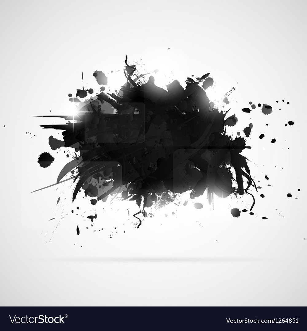 Abstract background with black paint splashes vector | Price: 1 Credit (USD $1)