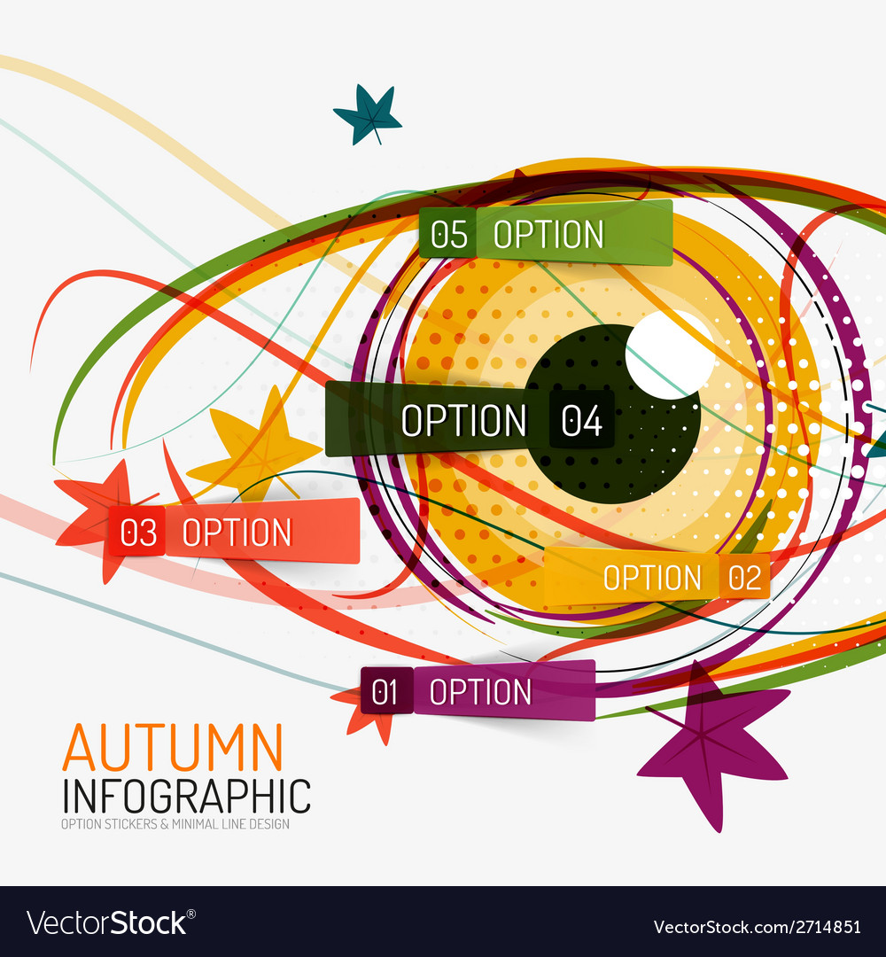 Autumn option infographics and human eye vector | Price: 1 Credit (USD $1)
