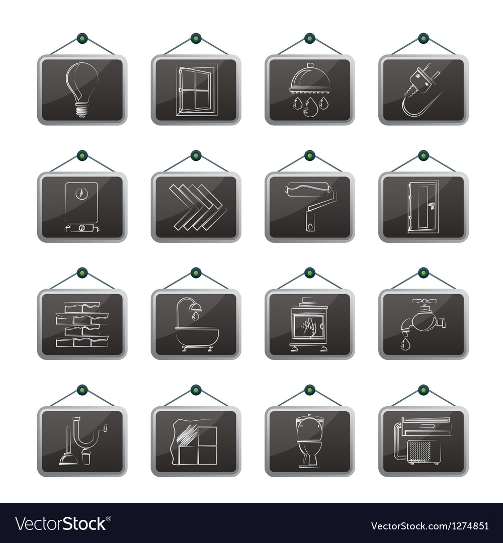 Construction and home renovation icons vector | Price: 1 Credit (USD $1)
