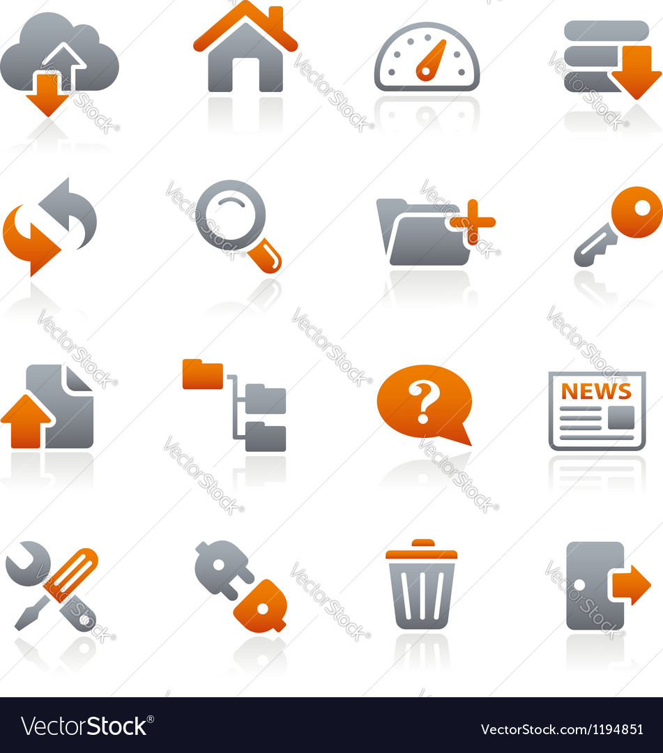 Ftp hosting icons graphite series vector | Price: 1 Credit (USD $1)