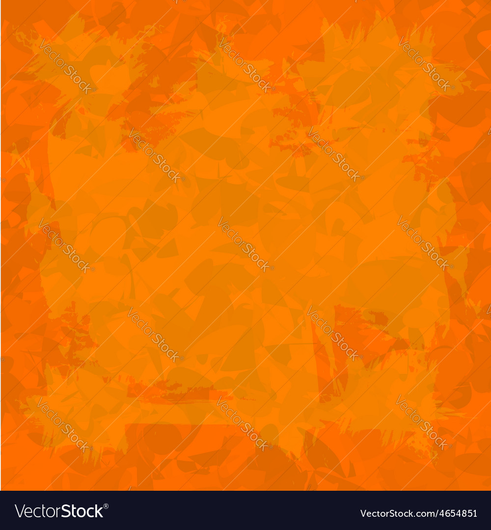 Orange old wall decorative grunge background vector | Price: 1 Credit (USD $1)
