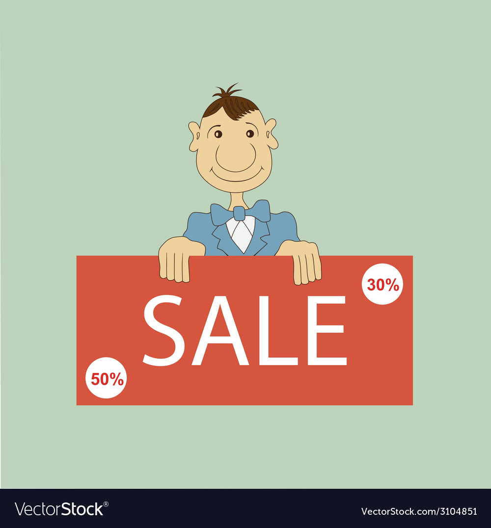 Sale promotion design template vector | Price: 1 Credit (USD $1)