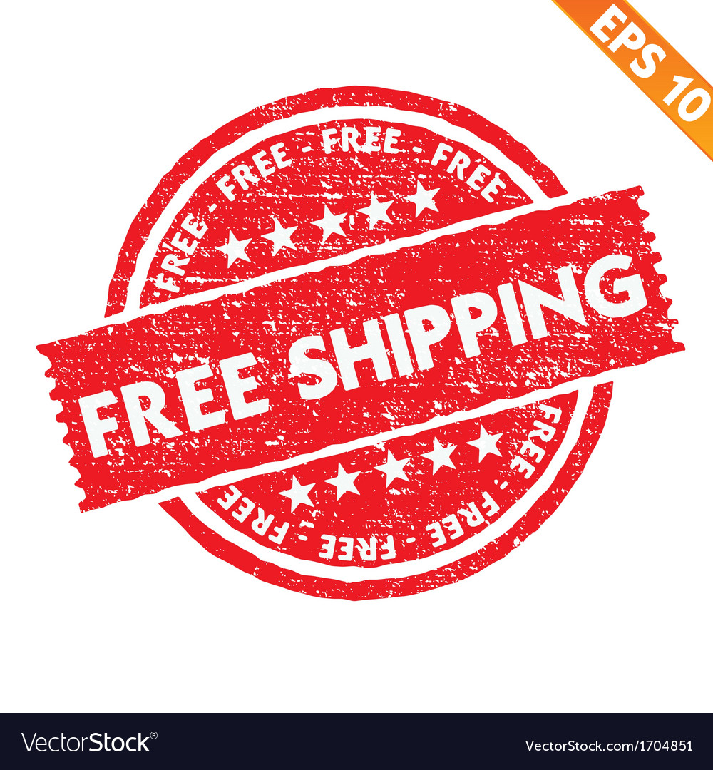 Stamp sticker free shipping collection - - vector | Price: 1 Credit (USD $1)