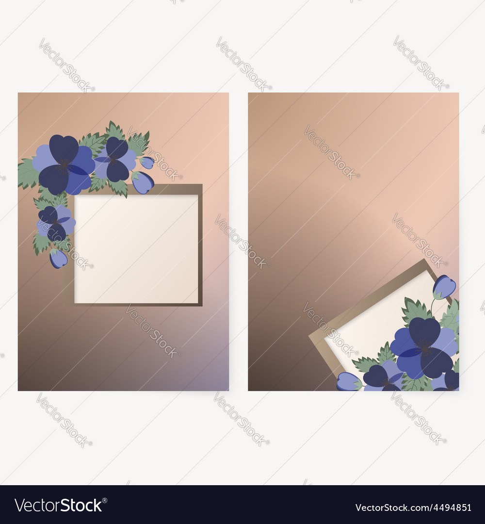 Template card with spring flowers vector | Price: 1 Credit (USD $1)
