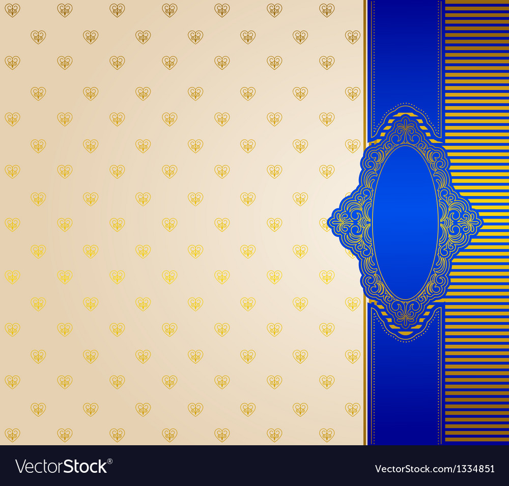Vintage frame with background vector