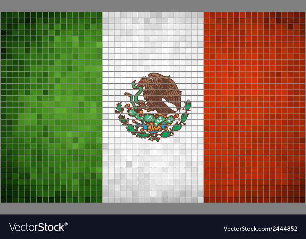 Flag of mexico mosaic vector | Price: 1 Credit (USD $1)