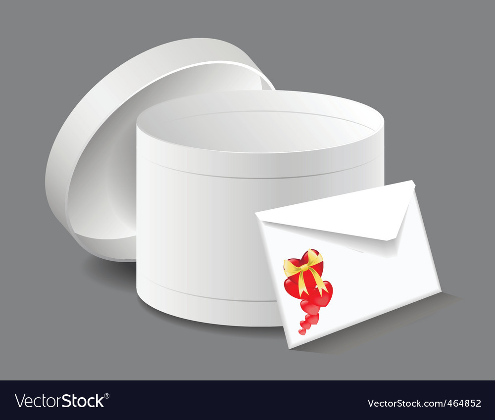 Gift box with a letter vector | Price: 1 Credit (USD $1)