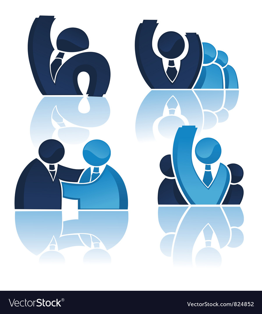 Office team and successful business vector   Price: 1 Credit (USD $1)