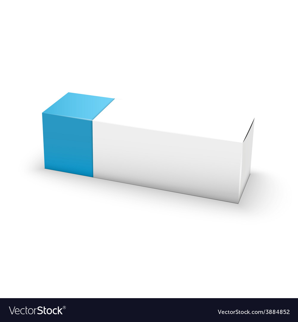 Package white and blue box design vector | Price: 1 Credit (USD $1)
