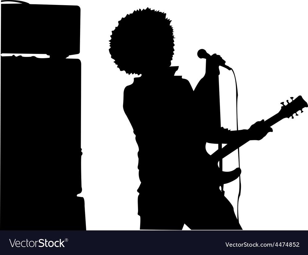 Rockstar performing vector | Price: 1 Credit (USD $1)
