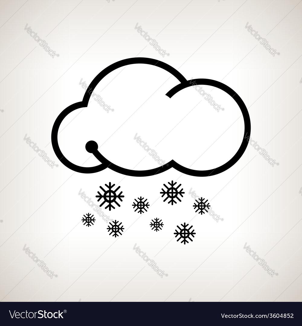 Silhouette snowfall vector   Price: 1 Credit (USD $1)