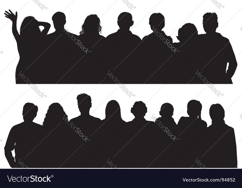 Silhouettes man and women vector | Price: 1 Credit (USD $1)