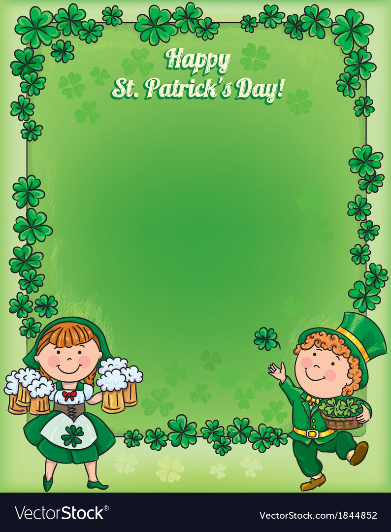 St patricks day frame vector | Price: 1 Credit (USD $1)