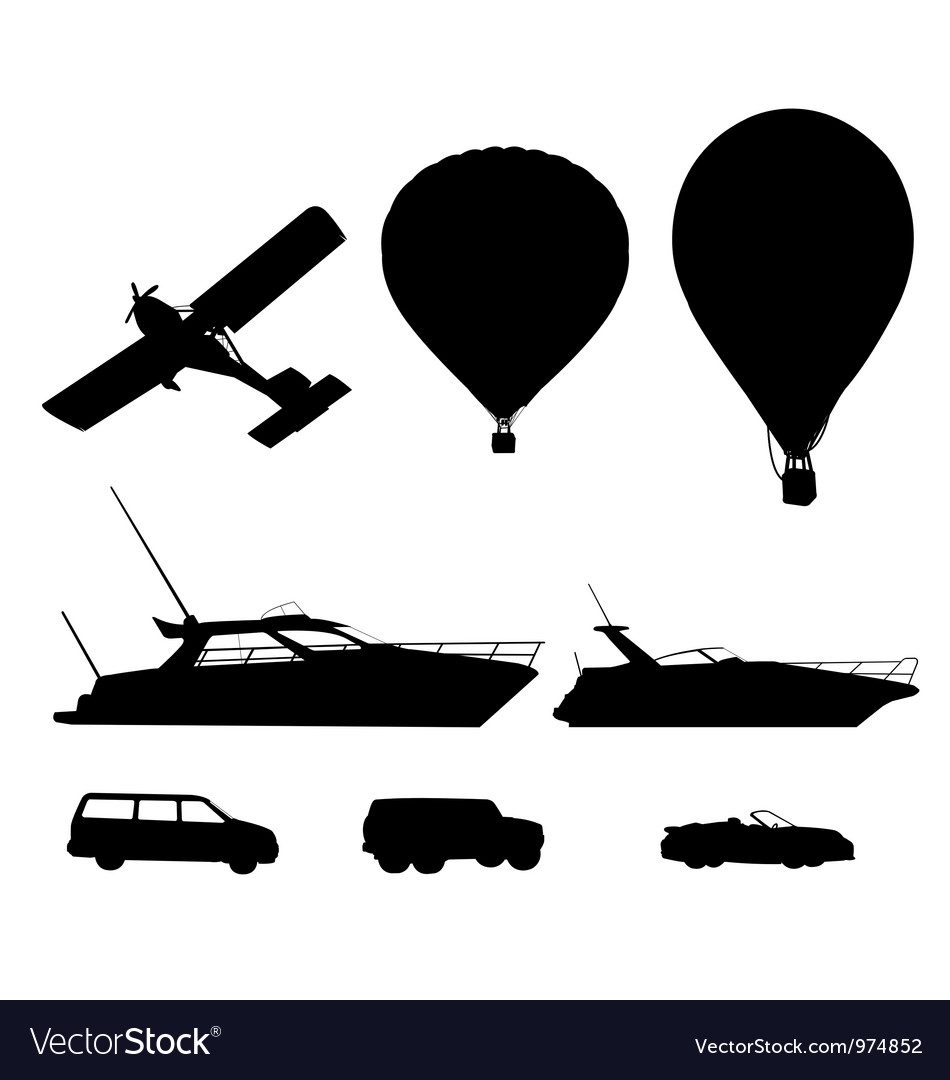 Transport silhouette vector | Price: 1 Credit (USD $1)