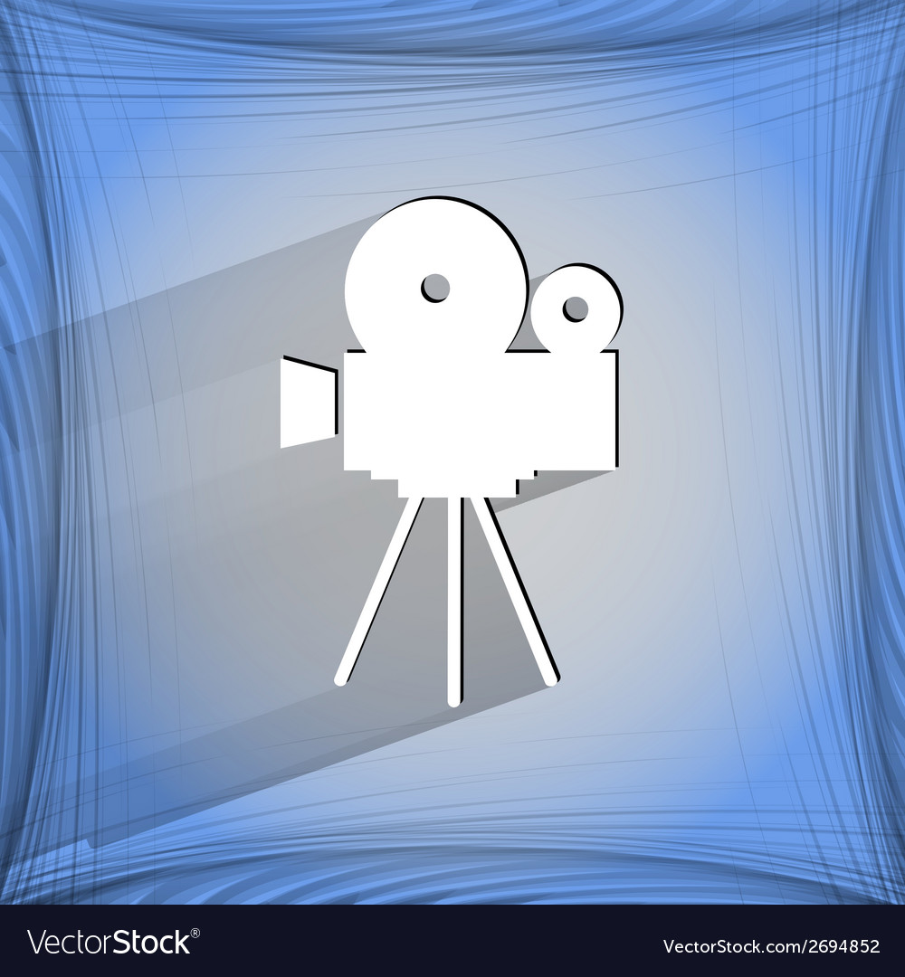 Videocamera flat modern web button on a flat vector | Price: 1 Credit (USD $1)