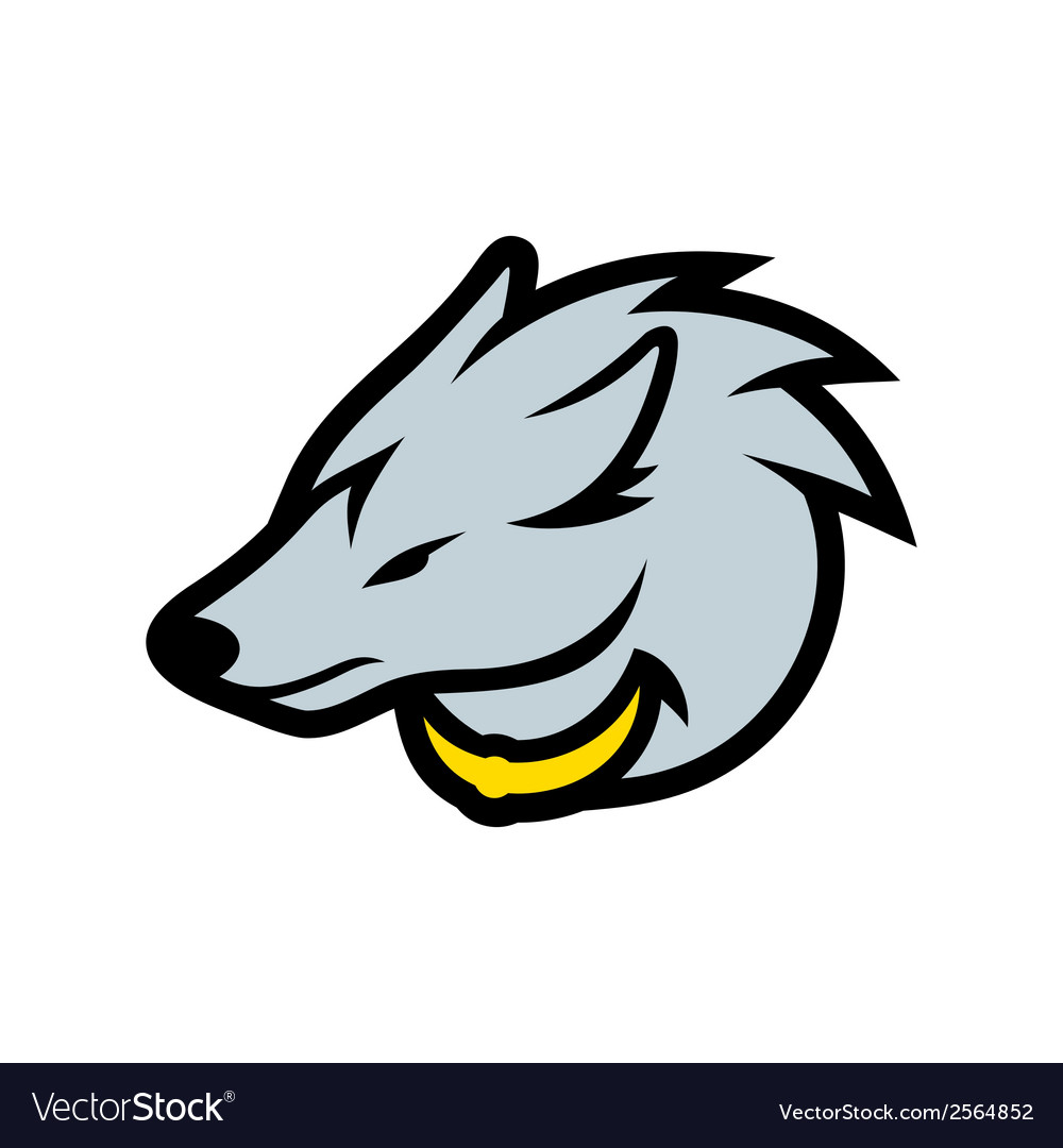 Wolf head sign vector | Price: 1 Credit (USD $1)