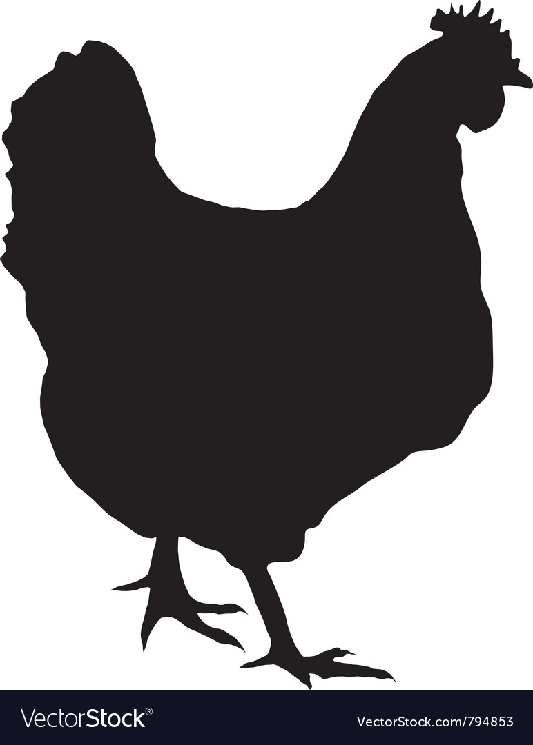 Black silhouette of hen vector | Price: 1 Credit (USD $1)