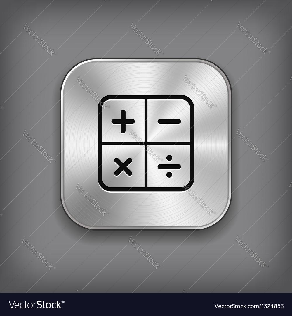 Calculator icon - metal app button vector | Price: 1 Credit (USD $1)