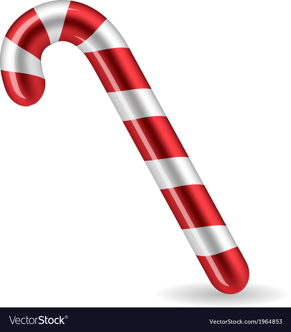 Candy cane isolated on white background vector | Price: 1 Credit (USD $1)
